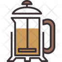 French Press Coffee Maker Filter Press Icon