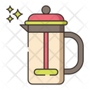French Press Coffee Press Presspot Icon