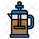 French French Press Coffee Pot Icon
