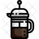 French Press Coffee Maker Coffee Icon
