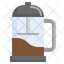 French Press Food Coffee Kettle Kitchenware Icon