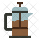 French Press Cafe Coffee Icon