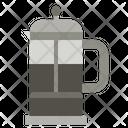 French Press Coffee Pot Coffee Maker Icon