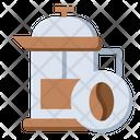 French Press Espresso Cafe Icon