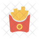 Fries Chips Junk Icon