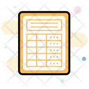 Frequency Table Frequency Sheet Spreadsheet Icon