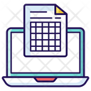 Frequency Table Data Table Statistical Table Icon
