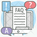 Frequently Ask Question Faq Question Answer Icon