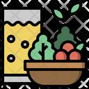 Fresh Vitamin Food And Restaurant Icon