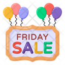 Sale Board Friday Sale Sign Friday Sale Banner Icon