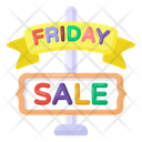 Sale Signboard Friday Sale Sign Sale Roadboard Icon