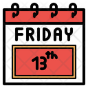 Friday 13 Th Calendar Icon