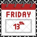 Friday Th Calendar Unlucky Belief Badluck Friday Thirteenth Icon