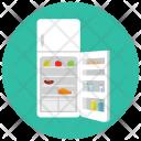 Open Fridge Refrigerator Icon