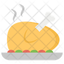 Fried Chicken Fooding Chicken Piece Icon