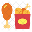 Chicken Friedchicken Fastfood Icon