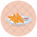 Fried Chicken Grilled Steak Bbq Stick Icon