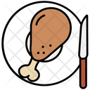 Chicken Fried Meal Icon