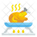 Fried Chicken Full Chicken Pan Icon