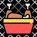 Fried Chicken Bucket Icon