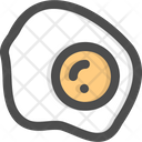 Fried Egg Protein Organic Icon