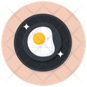 Fried Egg Dairy Ingredient Icon