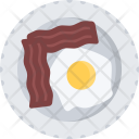 Fried Eggs Bacon Icon