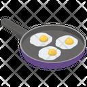 Fried Eggs Breakfast Eggs Pan Icon