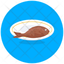 Fried Fish Seafood Marine Animal Icon