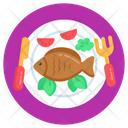 Fish Seafood Fried Fish Icon