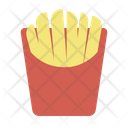 Fried Potato Food Meal Icon