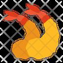 Fried Shrimp Cuisine Seafood Icon