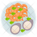Fried Shrimp Seafood Prawns Icon