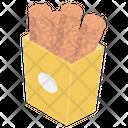 Fried Snacks Fast Food Fried Rolls Icon