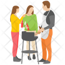 Friends Picnic Picnic Family Picnic Icon
