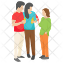 Friends Picnic Family Picnic Outdoor Fun Icon