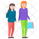 Friends Shopping Icon