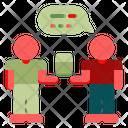 Friends Talking Talking Friends Icon