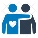 Friendship Hug Mutual Friend Icon