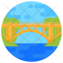 Friendship Bridge Railroad Bridge Footbridge Icon