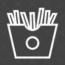 Fries Fastfood Food Icon