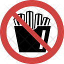 Fries not allowed Icon