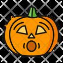 Fright Pumpkin Halloween Icon