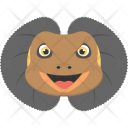 Brown Lizard Frilled Icon