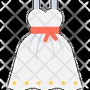 Pattern Dress Frock Girl Dress Icon