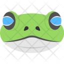 Animated Frog Face Icon