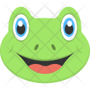 Frog Face Smiling Icon
