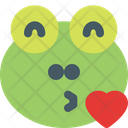 Frog Blowing Kiss Icon