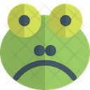 Frog Frowning Animal Wildlife Icon