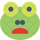 Frog Frowning Open Mouth Icon